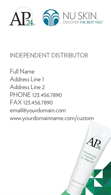 Ap-24 Whitening Tooth Paste Business Card 2