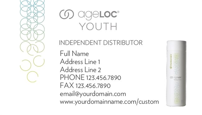 ageLoc Youth Horizontal Business Cards Version 2