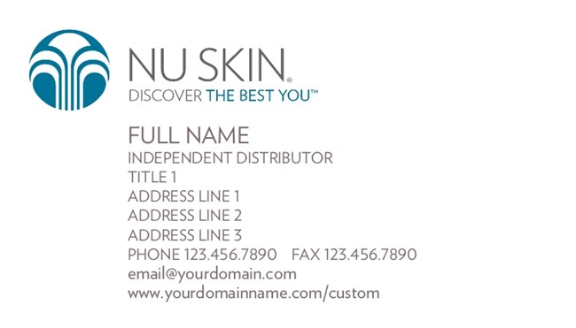 Nu skin gear business cards nuskin business cards colourmoves